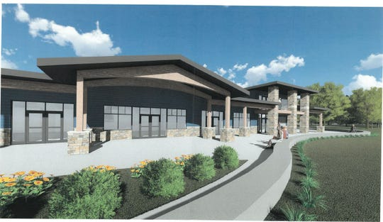 A rendering of the north side of the pavilion.