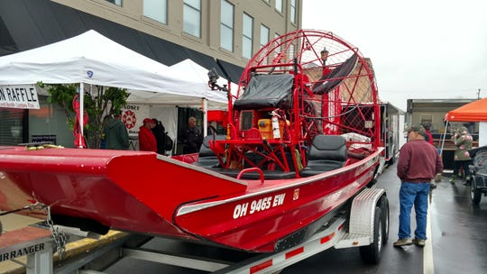 This air boat was on display at the first Fremont Fishing and Outdoor Festival in May 2017. The festival is returning for a third year to downtown Fremont May 18.