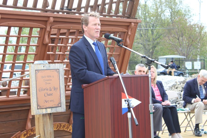 Lt. Gov. Jon Husted spoke Thursday at the launch of the state's first marine trades apprenticeship program at Port Clinton's Lakefront Marina. Husted said the program will give students and workers another pathway into the skilled trades.