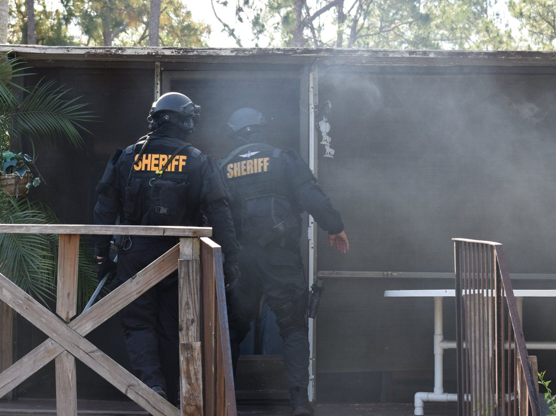"""Photos posted by the Lee County Sheriff's Office show scenes from an opioid and narcotics bust on Wednesday, May 8, 2019. The three-month-long investigation by the Lee County Sheriff's Office Narcotics Unit was dubbed """"Spring MAYhem."""""""