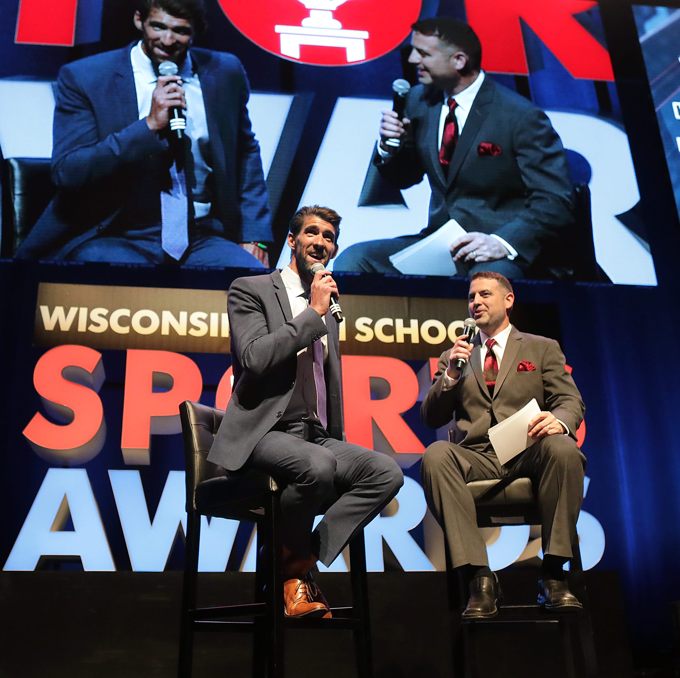 Michael Phelps, prep stars share stage at High School Sports Awards show