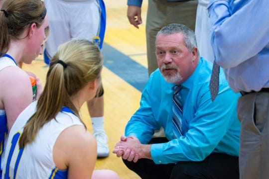 Russ Young coached the Oconto High School girls varsity basketball team for 28 years.