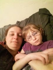 Lynn Waldron-Moehle and her daughter, Lillian, 10.