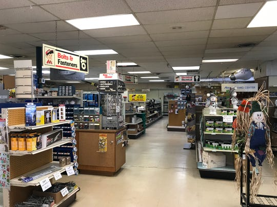 Aisles inside DeBaker Hardware have started to empty out as the store's liquidation sale continues.