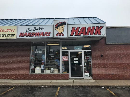 DeBaker Hardware, 1729 University Ave., is going out of business soon.