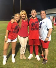 The White family, from left, Lindsay, Diana, Leo and Michael, have had a busy and successful soccer season with J.L. Mann. Twins Lindsay and Leo will be playing for state championships Saturday in Irmo
