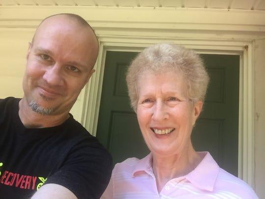 Gregg Doyel with his mom, Martha Boynton.