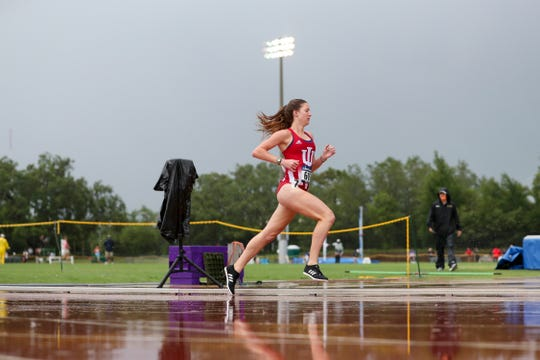 Haley Harris competing during NCAA East Regional Track and Field Championships, May 26, 2018 in Tampa, Fla.