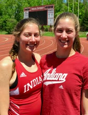 Twins Kelsey (left and Haley Harris run for IU.