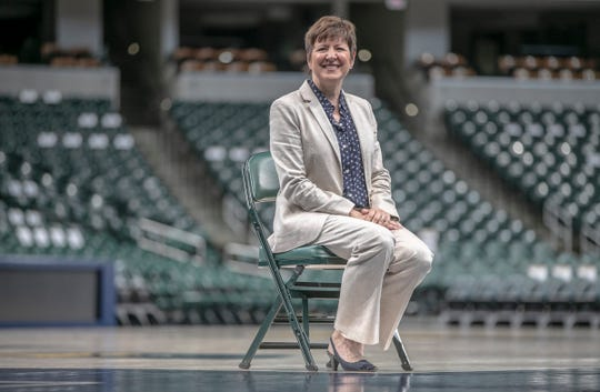 Allison Barber, new President and Chief Operating Officer of the Indiana Fever, Bankers Life Fieldhouse, Indianapolis, Thursday, May 9, 2019.