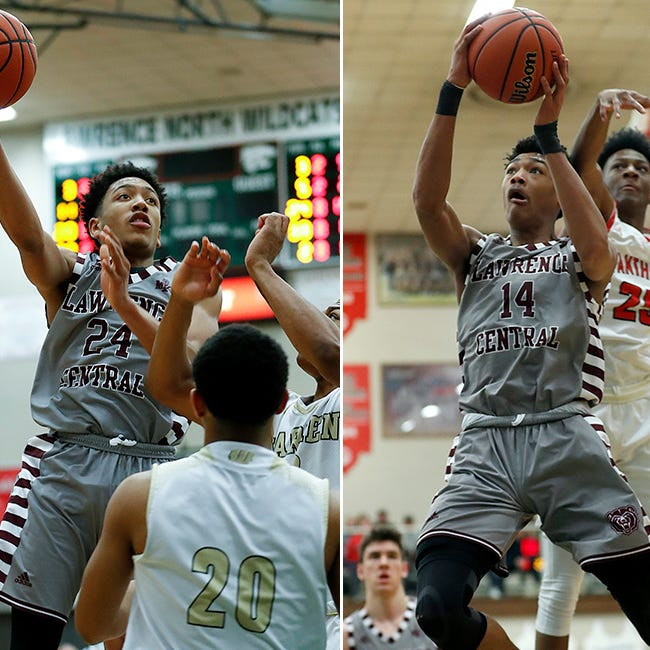 Lawrence Central duo Nijel Pack (left) and Dre Davis (right) are inseparable.