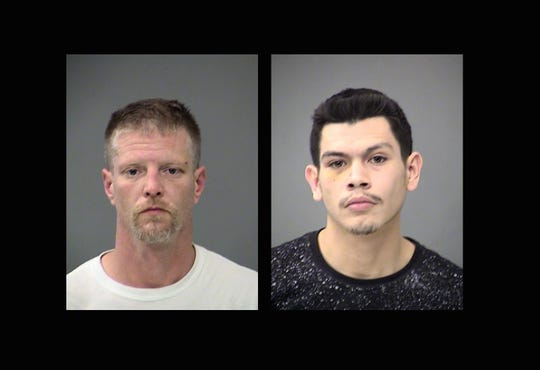 Brandon Kaiser, left, and Alfredo Vazquez were arrested in connection to the shooting of two men at 55 W. South Street on May 1, 2019.