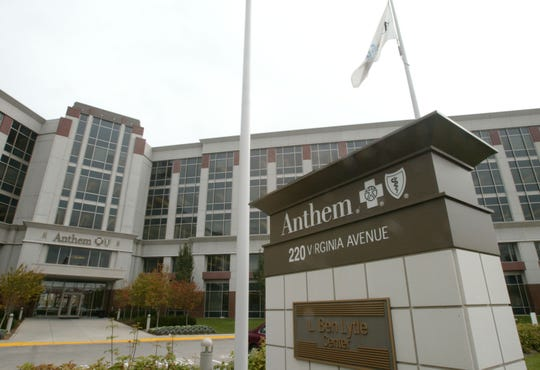 The headquarters of health insurer Anthem Inc. in Indianapolis.
