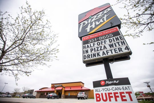 Pizza Hut is pictured, Thursday, May 9, 2019, at 1926 Keokuk Street, south of Highway 6 in Iowa City, Iowa.