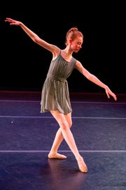 Alice Boerner performing the part of the Nightengale, the role for which she is understudied as part of the UI Youth Ballet and Community Dance School's 2019 spring concert. During the show proper, she plays the part of the Mechanical Bird.