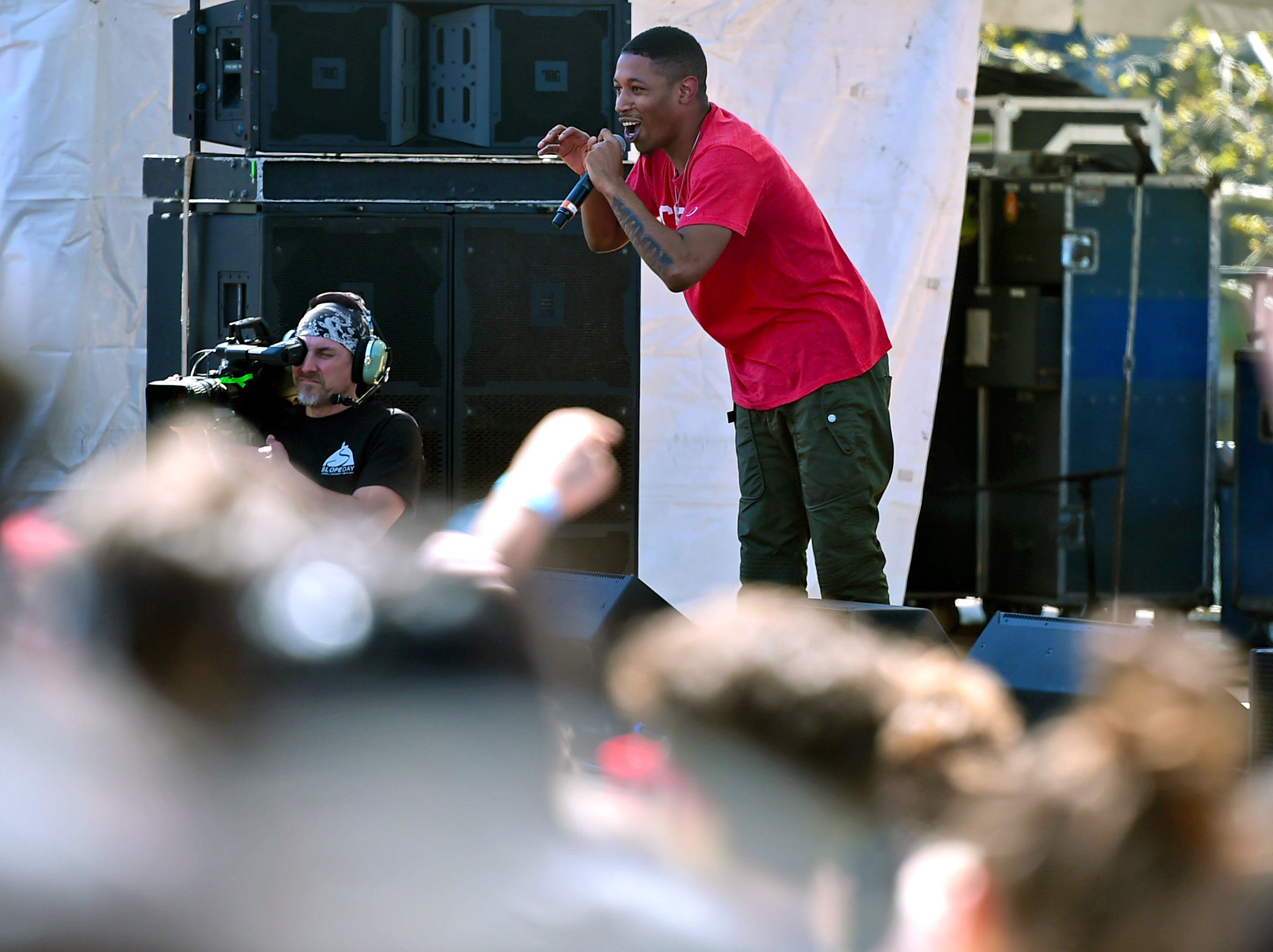 Cousin Stizz during Slope Day 2019 at Cornell University, May 8, 2019.