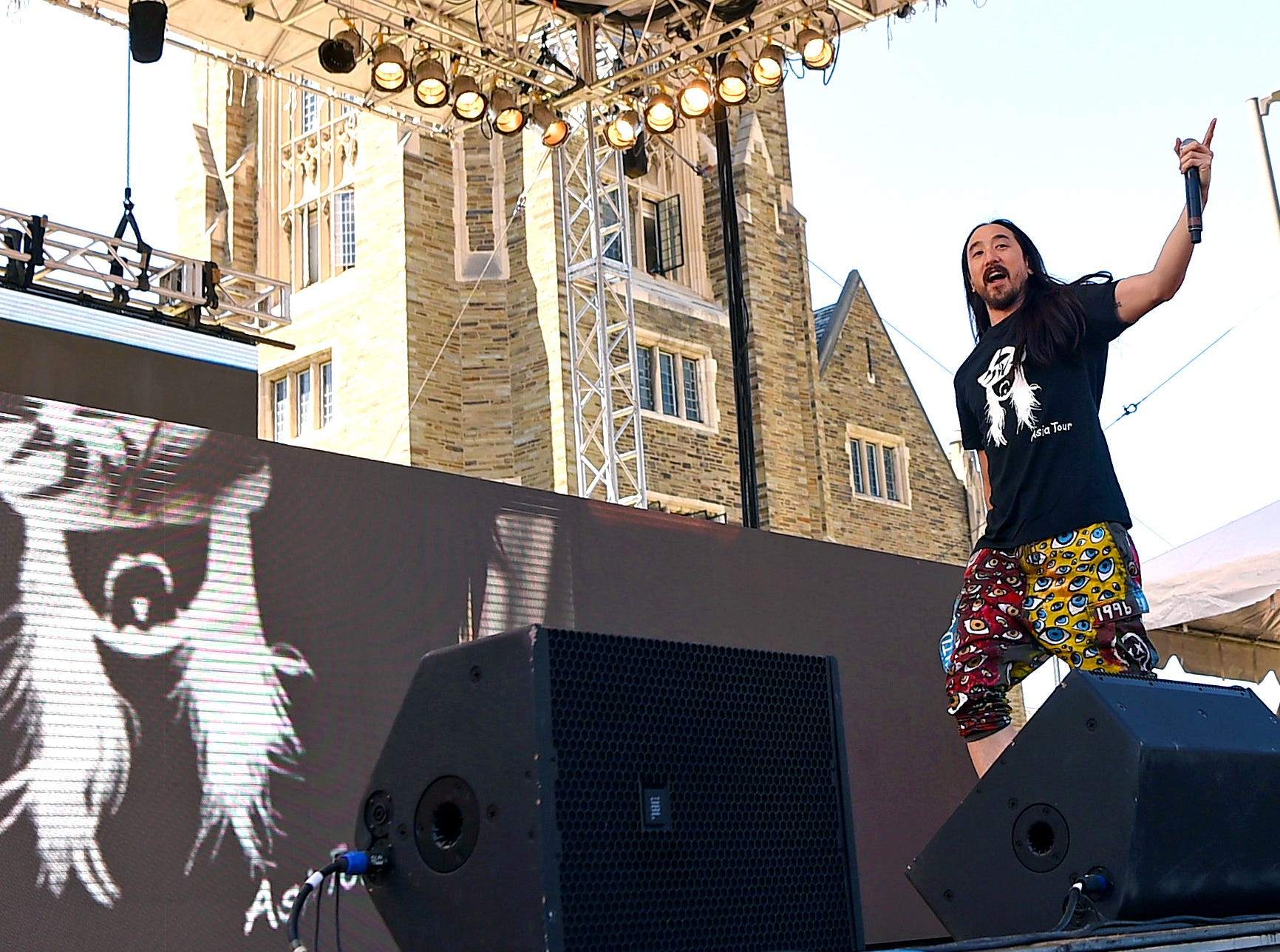 Steve Aoki during Slope Day 2019 at Cornell University on May 8, 2019.