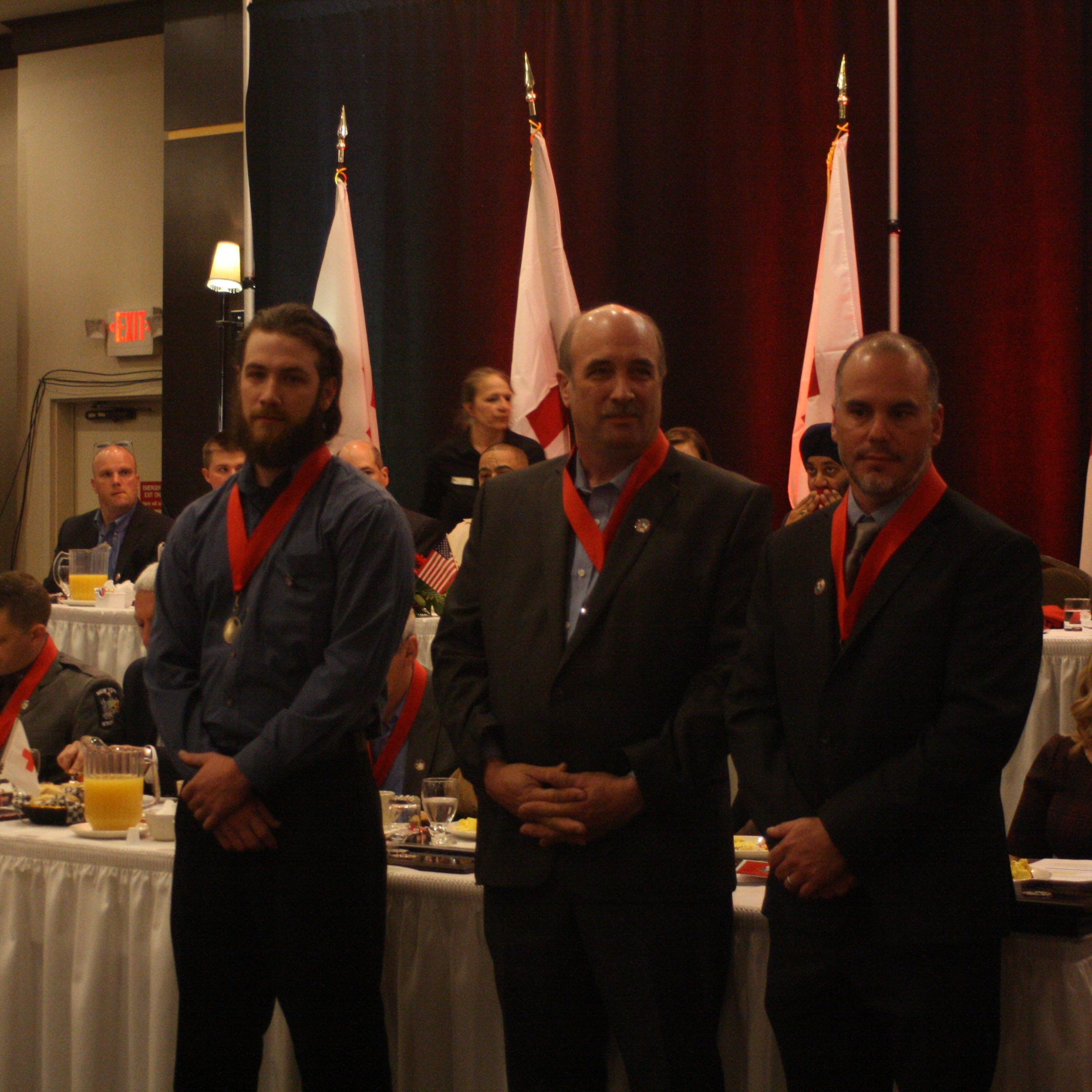 Town of Caroline residents honored as Red Cross 'Real Heroes' for saving missing skiers