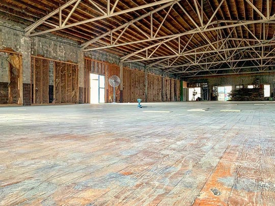 The future home of KnoxAxe, an ax throwing venue, at 808 State Street in downtown Knoxville. The building dates back to the 1940s and was a grocery warehouse at one time.