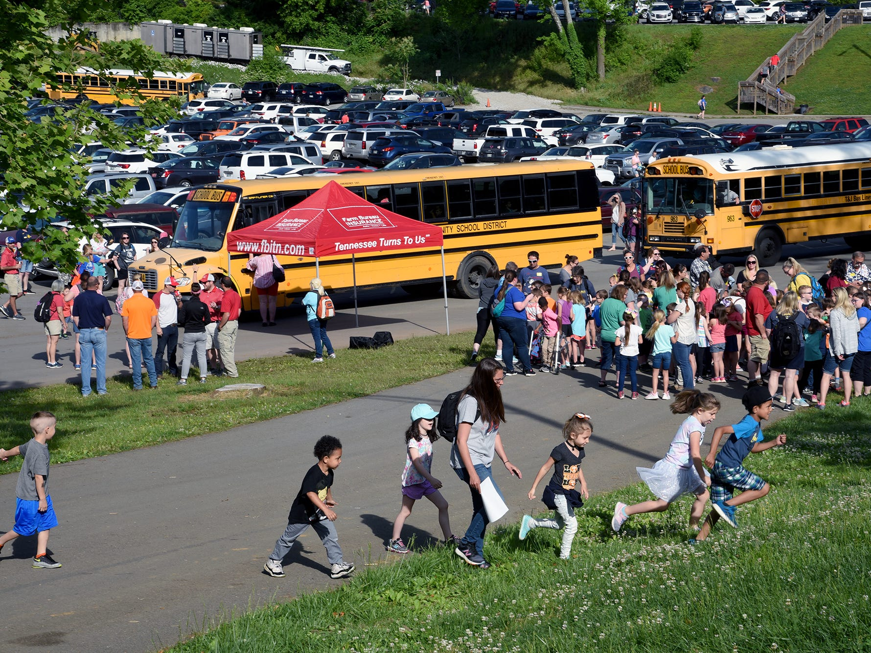 Over 600 Knox County School children attended the annual Knox County Farm Bureau Ag in the Classroom Farm Day at Chilhowee Park Tuesday, May 7, 2019.