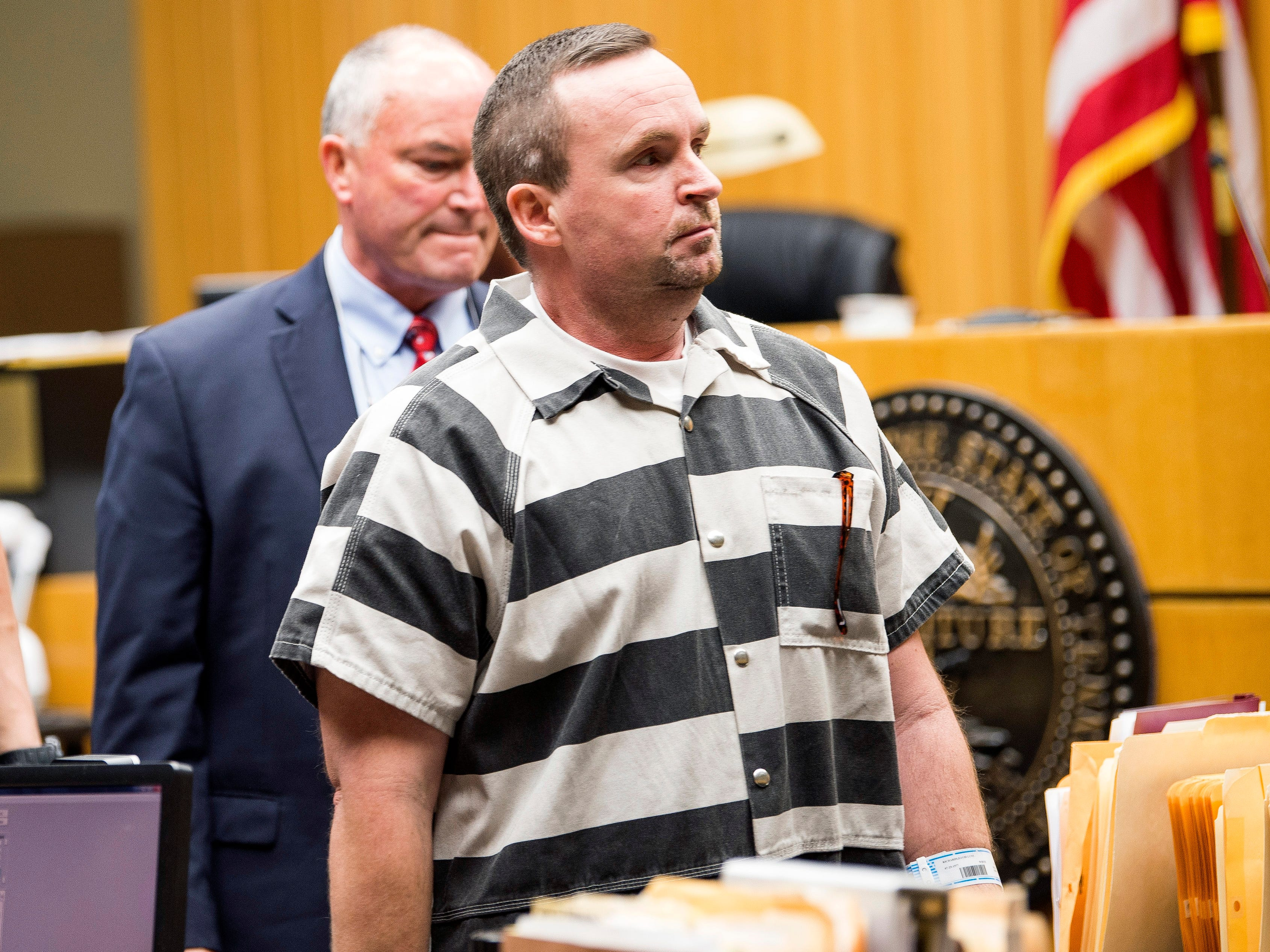 David Lynn Richards leaves the courtroom following his sentencing hearing in Knox County Criminal Court on Thursday, May 9, 2019.