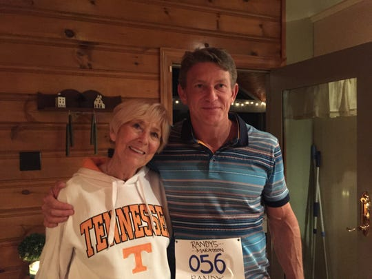 Randy Boyd with his mother, Dale Cuthbertson.