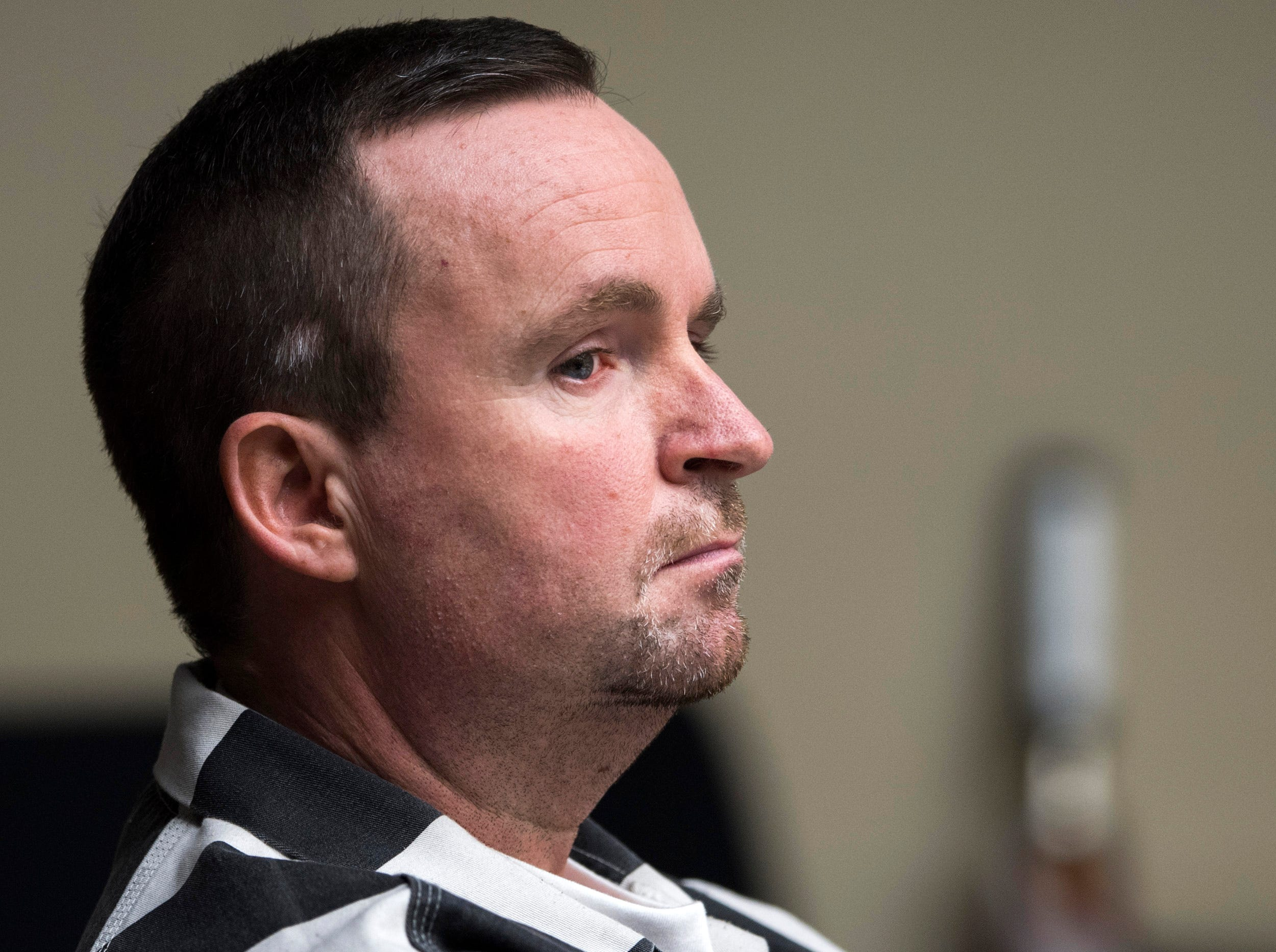 David Lynn Richards during his sentencing hearing in Knox County Criminal Court on Thursday, May 9, 2019.