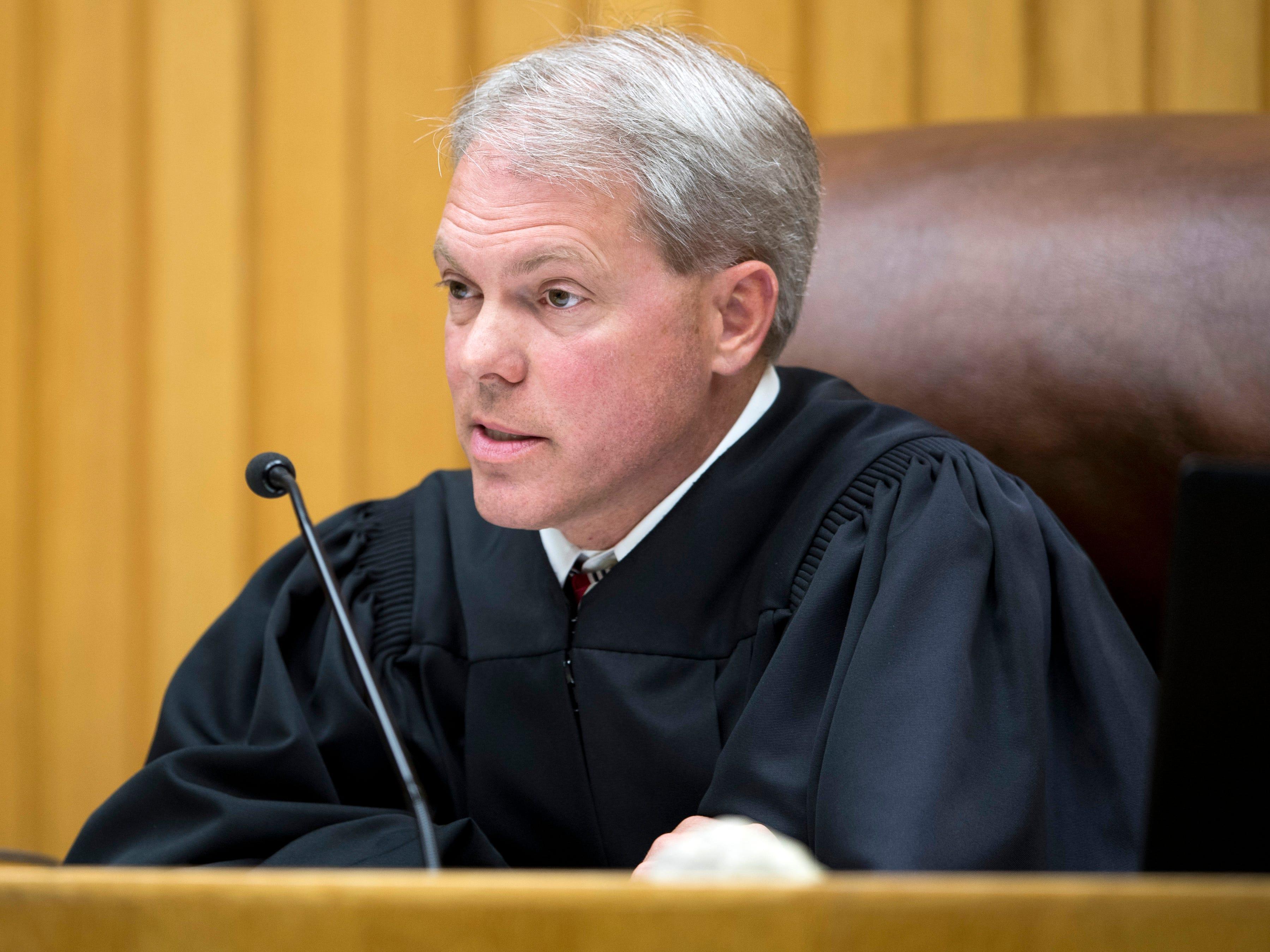 Judge Steve Sword during David Lynn Richards' sentencing hearing in Knox County Criminal Court on Thursday, May 9, 2019.