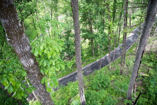 A new access road is seen at Anakeesta in downtown Gatlinburg, Thursday May 9, 2019. Anakeesta is expanding it's Vista Garden, adding a BearVenture play area and more.