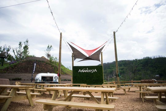 A beer garden and concert area is seen at Anakeesta in downtown Gatlinburg, Thursday May 9, 2019. Anakeesta is expanding it's Vista Garden, adding a BearVenture play area and more.