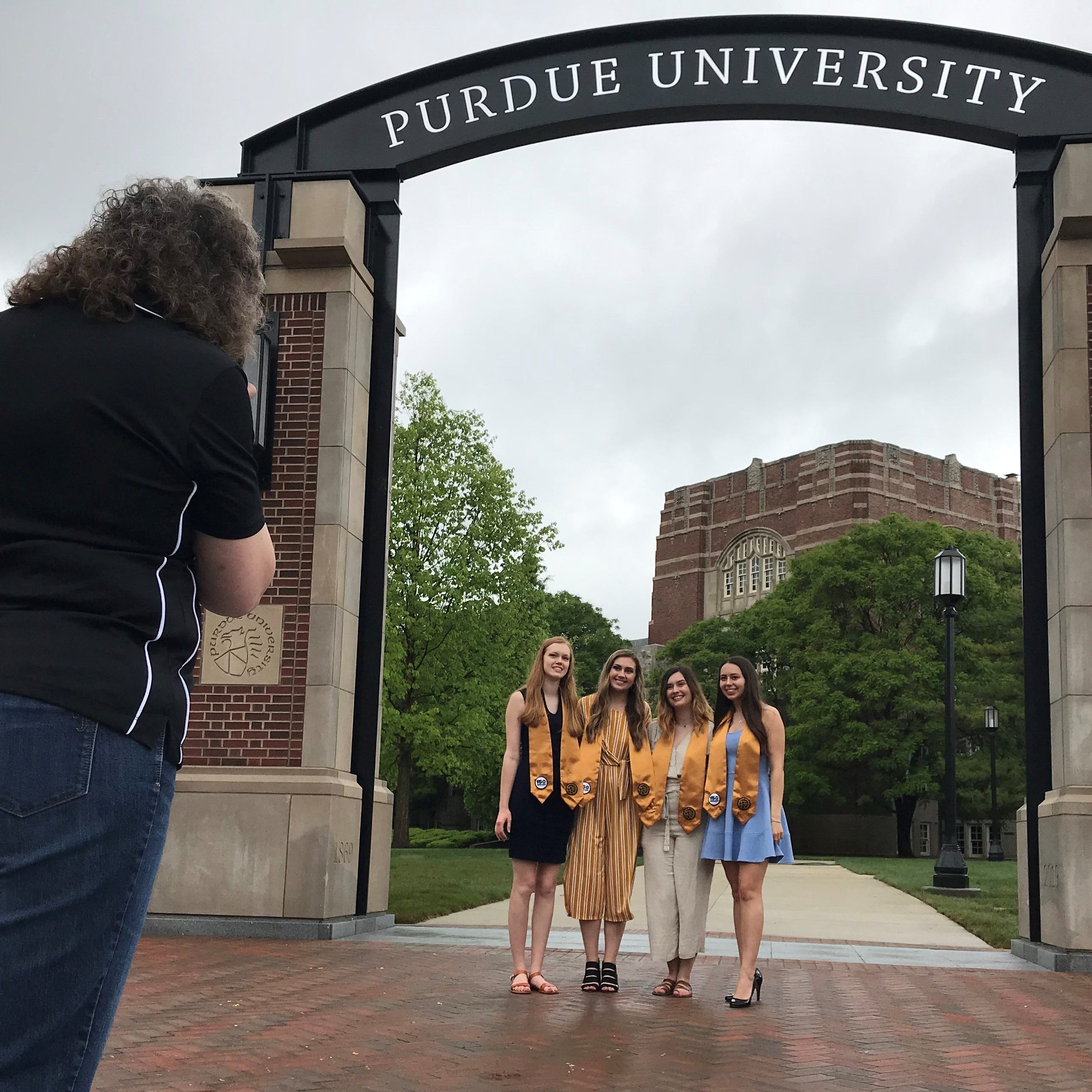 Purdue's new $1.9M gateway opens, ready for its closeup for graduation weekend