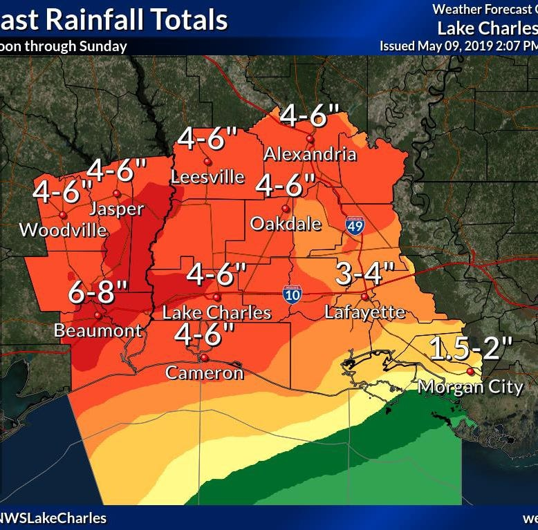 Acadiana under flash flood watch until Saturday night