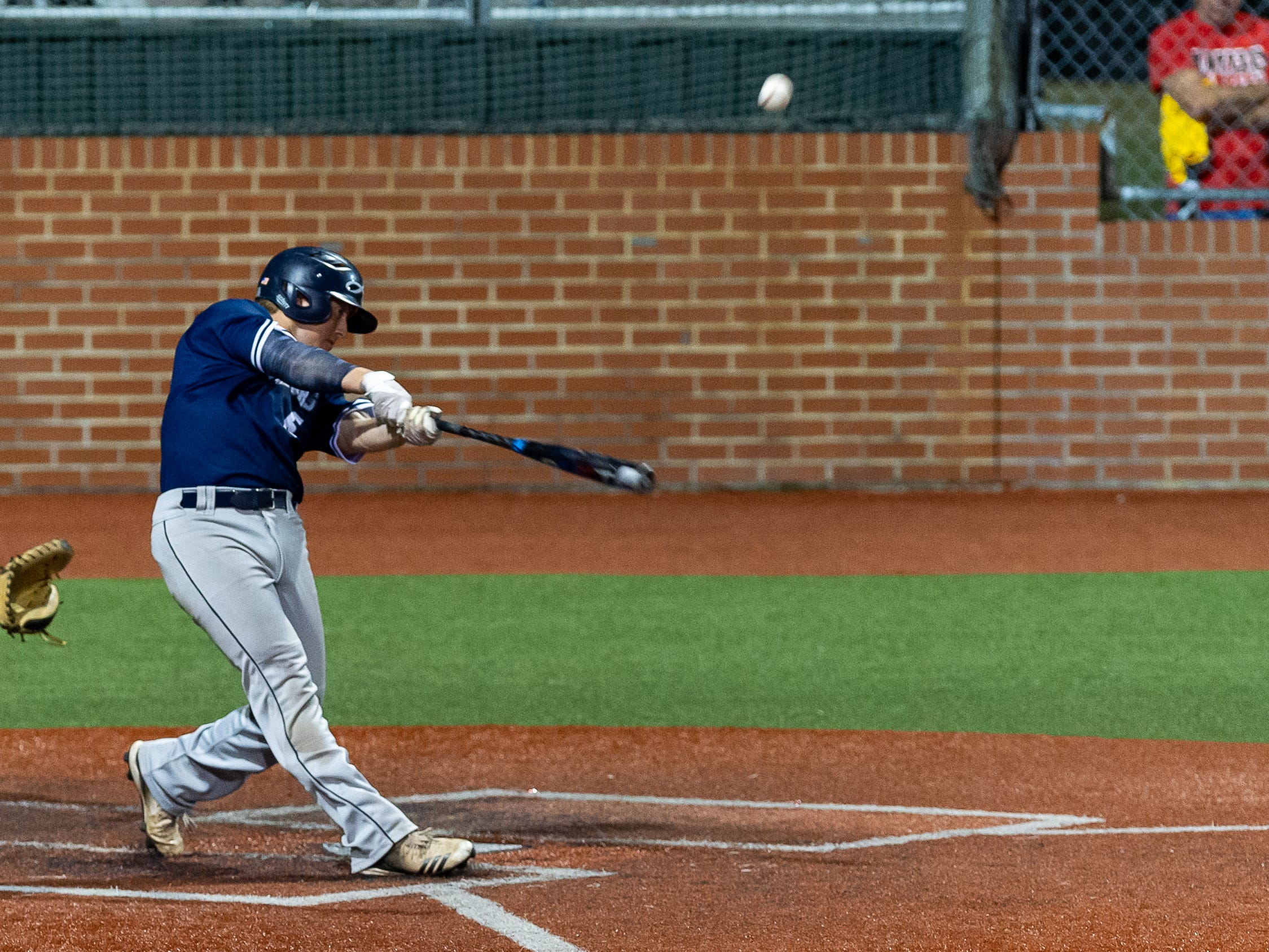 Seth Kerstetter at the plate as Ascension Episcopal takes on St. Thomas Aquinas in the semi final round at the LHSAA State Championship. Wednesday, May 8, 2019.
