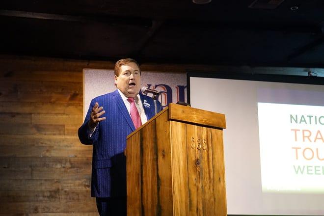 Lt. Gov. Billy Nungesser speaking in Lafayette