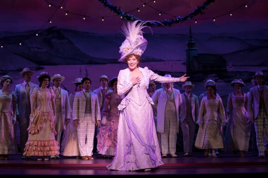 """Actress Betty Buckley in """"Hello, Dolly!"""" National Tour."""
