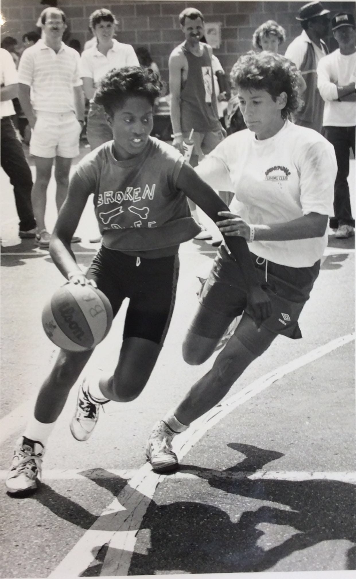 Gus Macker basketball tournaments have featured experienced women and men for several years. The highest levels of tournament play include people with collegiate and professional experience.