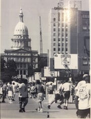 The Gus Macker 3-on-3 basketball tournament was played in downtown Lansing from 1989 to 1995.  It may return to the city in 2020.