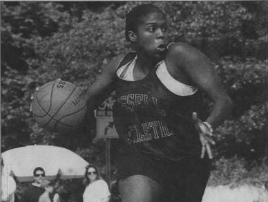 The Gus Macker basketball tournament caters to players of all ages and abilities. In 1995, Reba Thigpen was considered one of the top female players in the two-day downtown Lansing competition.