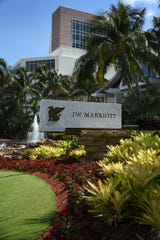 On Marco Island, the JW Marriott beach resort is down to operating one tower for its guests.