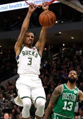 George Hill dunks in Game 5.