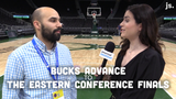 Matt Velazquez and Olivia Reiner break down the Bucks' 116-91 Game 5 victory over the Celtics, allowing Milwaukee to advance to the conference finals.