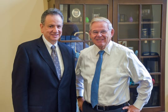 U.S. Senator Bob Menendez, ranking member of the Senate Foreign Relations Committee,  met with Picatinny Arsenal's David Castellano, executive director of Picatinny's Munitions Engineering and Technology Center at the Combat Capabilities Development Command Armaments, to discuss the Morris County, N.J., base's critical mission and the impact of President Trump's national emergency declaration, which threatens to divert $41 million appropriated by Congress to build Picatinny's new Munition Disassembly Complex. May 8, 2019.
