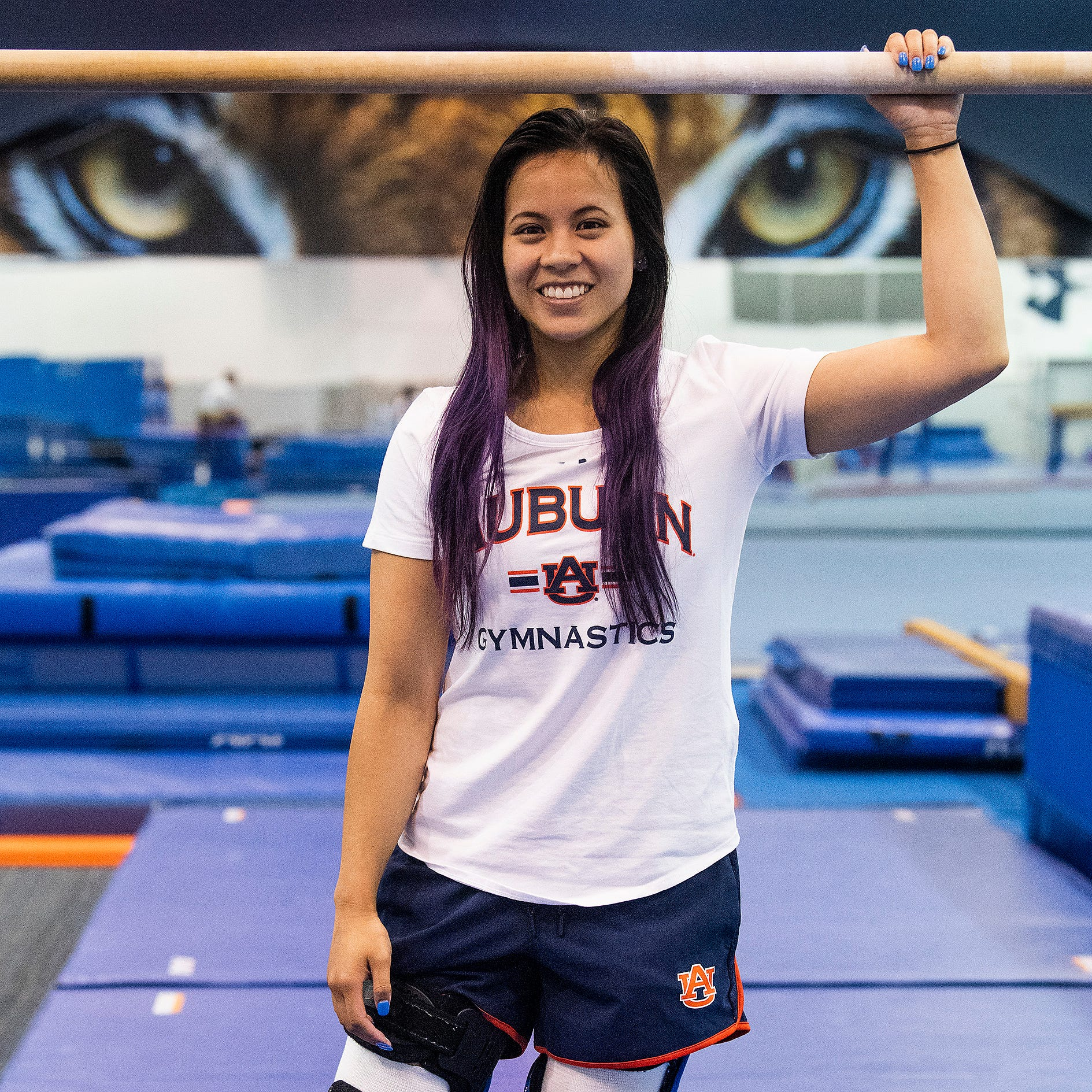 Auburn gymnast Sam Cerio isn't defined by her injury