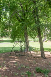 Montgomery Botanical Gardens in Oak Park has peaceful places in the tree shade to sit and relax. The public is invited to activities at Montgomery Botanical Gardens in Oak Park during National Public Gardens Week on May 13-19, 2019.
