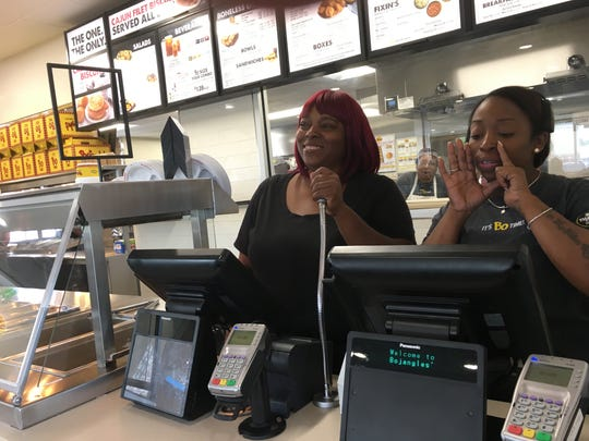 Employees train Thursday at Bojangles' in east Montgomery.