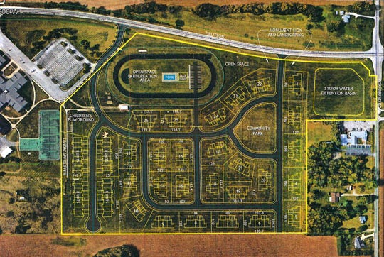 Bison Ridge development plans according to an image attached to their tax abatement request.
