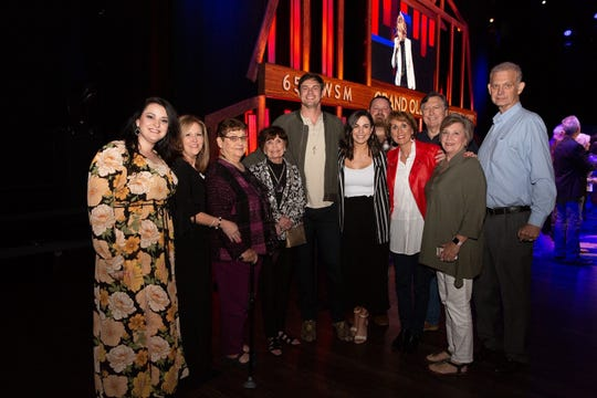 Country singer Matt Stell made his Grand Ole Opry debut in April with about 150 friends and family in attendance. He posed with his immediate family following his performance. From Left: Courtney Stell, Teresa Stell, Mary Ruth Stell, Shirley Gilbert, Matt Stell, Sophie LeBlanc, Cody Stell, Lisa Todd, Barry Todd, Diane Stell and Randy Stell