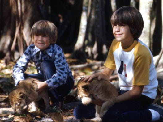 A pair of young boys pet lion cubs at Jungle Larry's African Safari at the Caribbean Gardens in 1973. The Naples Zoo is celebrating its 50th year as a zoo and 100th year as a botanical garden.