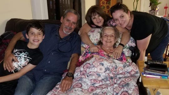 Blanca Cardona with (from left) her grandson, son, daughter-in-law and granddaughter.