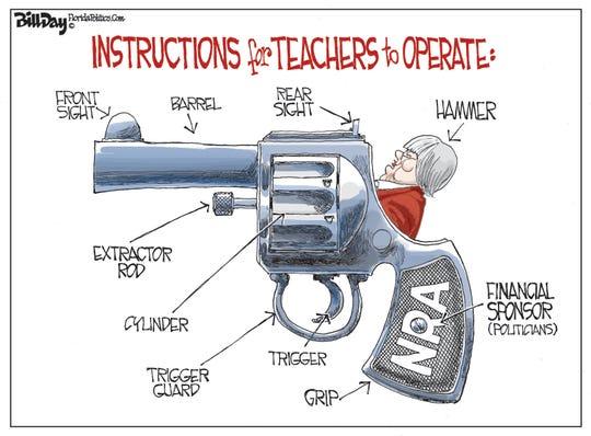 teachers as handgun hammer